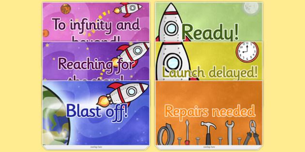 Space Themed Progress Reward Chart - space, reward, progress