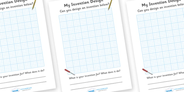 Invention Design Sheets - invention, design, worksheet, sheets, my invention design, activity, creative, creativity, inventing, contraption