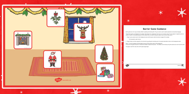 Father Christmas Barrier Game