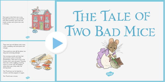 The Tale of Two Bad Mice PowerPoint - two bad mice, powerpoint