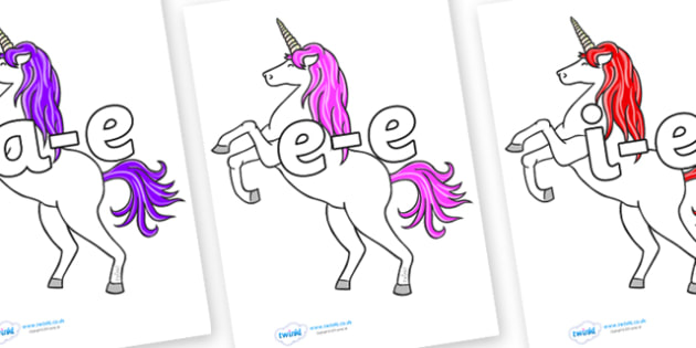 Modifying E Letters on Unicorn - Modifying E, letters, modify, Phase 5, Phase five, alternative spellings for phonemes, DfES letters and Sounds