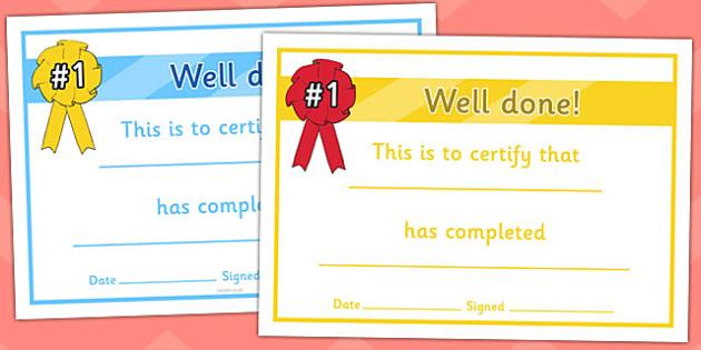 General Certificates - certificates, award, well done, reward, medal, rewards, school, general, certificate, achievement