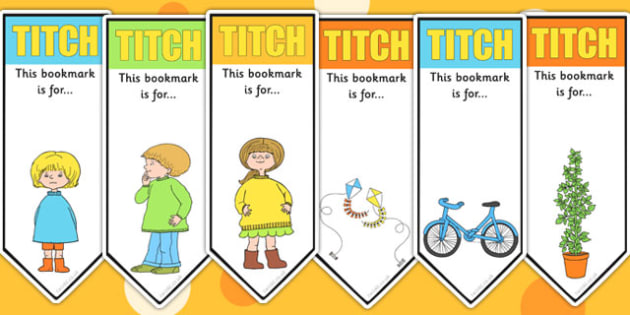 Editable Bookmarks to Support Teaching on Titch - stories, story books, reading, award