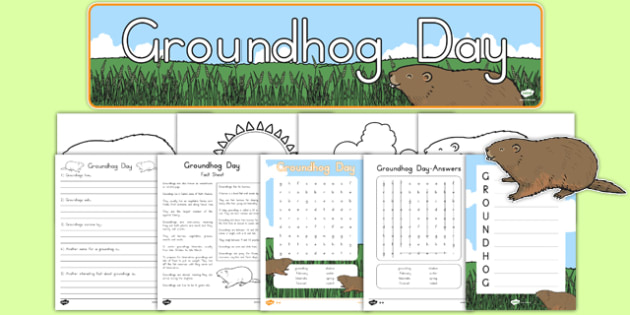 Groundhog Day Printable Pack - groundhog day, groundhog, tradition, celebration, printable, pack