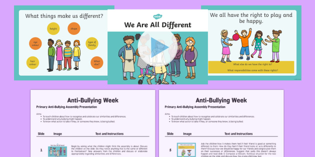 KS1 Anti-Bullying Assembly Resource Pack - bully, bullying, anti bullying, kind, friends, relationship, getting on, pshe
