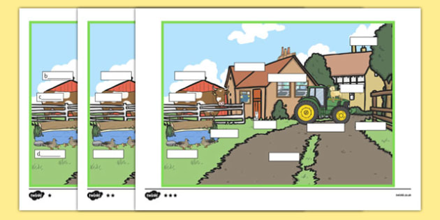 At The Farm Differentiated Labelling Activity - matching, language development, keywords, expressive skills, first words