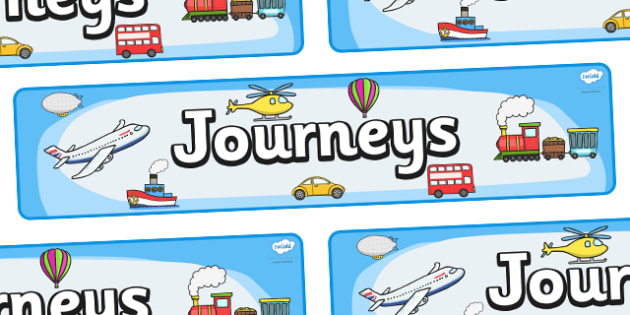 'Journeys' Display Banner - Display banner, journeys, journey, transport, car, van, lorry, bike, motorbike, plane, aeroplane, tractor, truck, bus