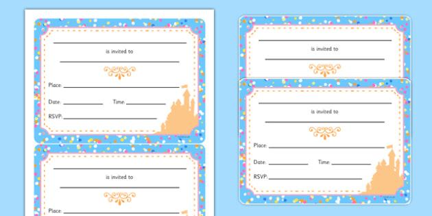 Cinderella Party Invitation - cinderella, party invitation, party, invitation