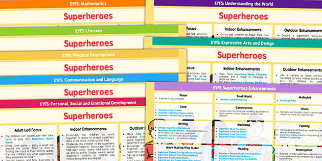 EYFS Superheroes Lesson Plan and Enhancement Ideas - planning, superhero, eyfs, lesson ideas