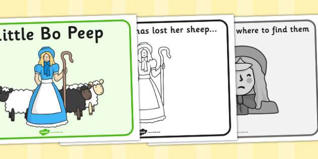 Little Bo Peep Sequencing - Little Bo Peep, nursery rhyme, rhyme, rhyming, nursery rhyme story, nursery rhymes, Little Bo Peep resources, sheep, role play mask, role play, sequencing