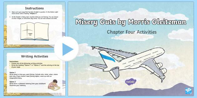 Chapter 4 Activities to Support Teaching on Misery Guts by Morris Gleitzman PowerPoint - Literacy, powerpoint, literature, australian curriculum, literature, novel study, misery guts by mor