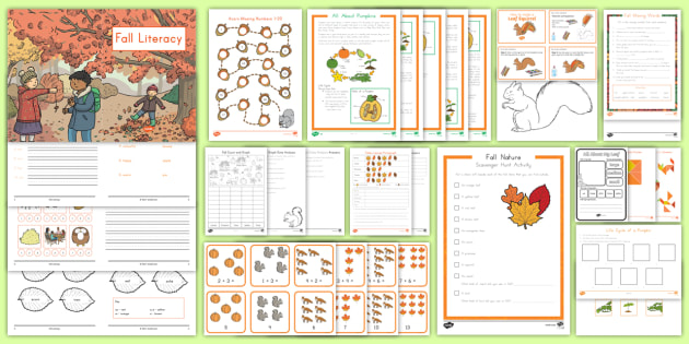 Fall Favorites K-2 Activity Pack - fall, fall favorites, fall activities, autumn, seasons, seasonal changes, apples, apple, pumpkins, p