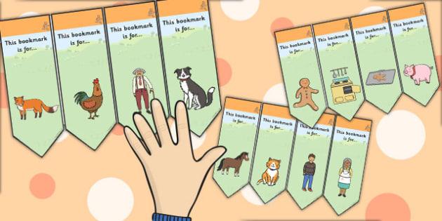 The Gingerbread Man Editable Bookmarks - bookmark, edit, tales