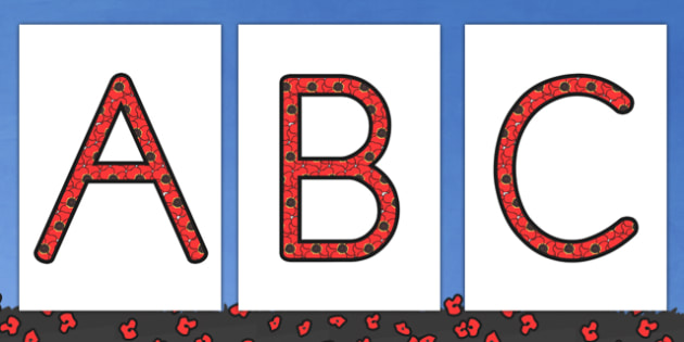 Remembrance Day Themed Display Lettering - letters, displays