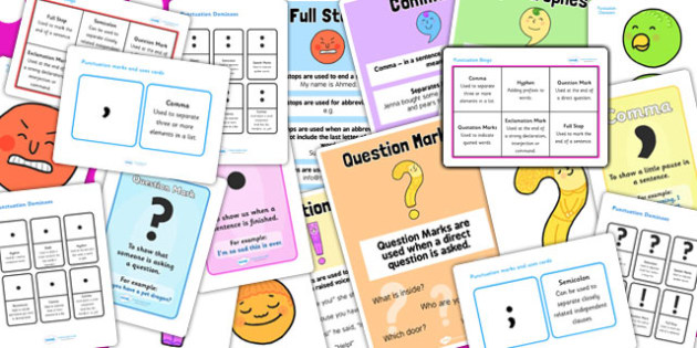 Punctuation Marks Resource Pack - punctuation marks, pack, marks