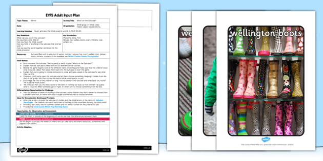Winter Clothes What's In the Suitcase? EYFS Adult Input Plan and Resource Pack - winter
