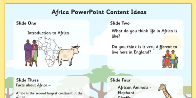 Africa PowerPoint Content Ideas - africa, africa powerpoint planner, africa powerpoint ideas, africa powerpoint lesson plan, lesson ideas, lesson plan