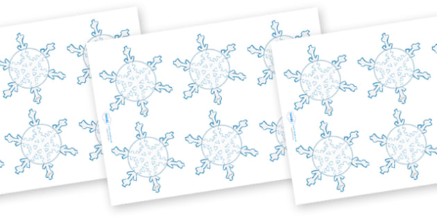 Editable Display Snowflakes (Small) - Winter, Christmas, editable, winter words, snowflake, snow, winter, frost, cold, ice, hat, gloves, display words