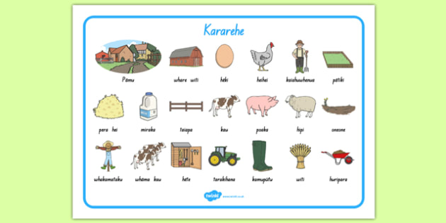 The Farm Word Mat