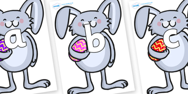 Phoneme Set on Easter Bunnies - Phoneme set, phonemes, phoneme, Letters and Sounds, DfES, display, Phase 1, Phase 2, Phase 3, Phase 5, Foundation, Literacy