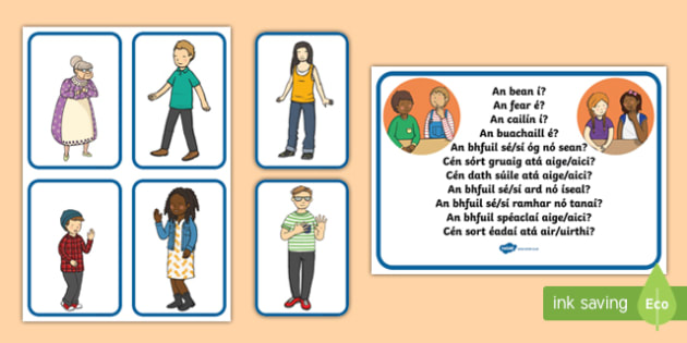 Guess The Character Language Game Gaeilge