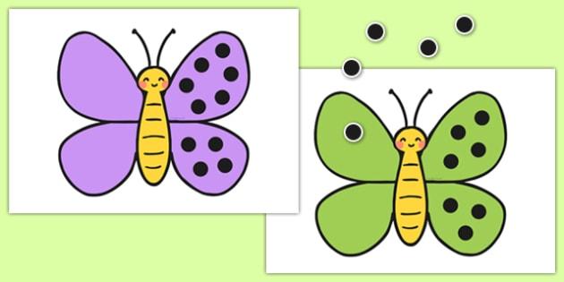 Give the Butterflies 10 Spots Number Bonds Activity - butterflies, 10, spots, number bonds