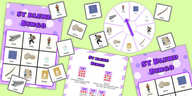 St Spinner Bingo - st sound, spinner bingo, spinner, bingo, activity