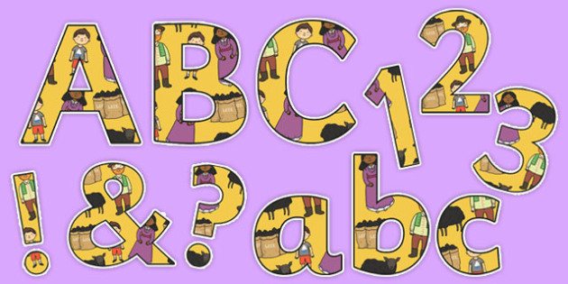 Baa, Baa, Black Sheep Display Letters and Numbers Pack