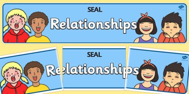 Relationships Display Banner (SEAL) - SEAL, relationships, display, poster, sign, banner, SEN, emotion, behaviour management, friend, friends, friendship, relation, family