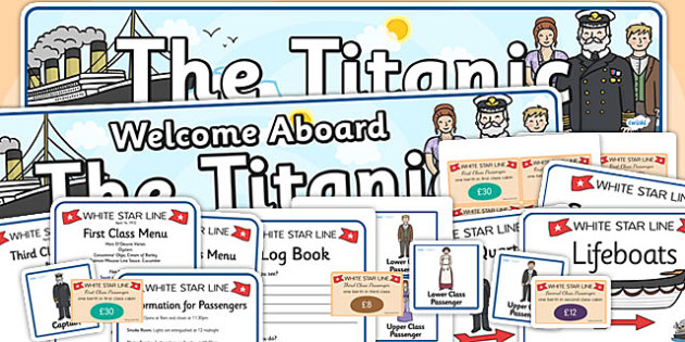 The Titanic Role Play Pack - titanic, role play, role play pack