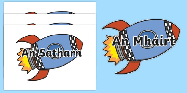 Laethanta na Seachtaine on Rockets