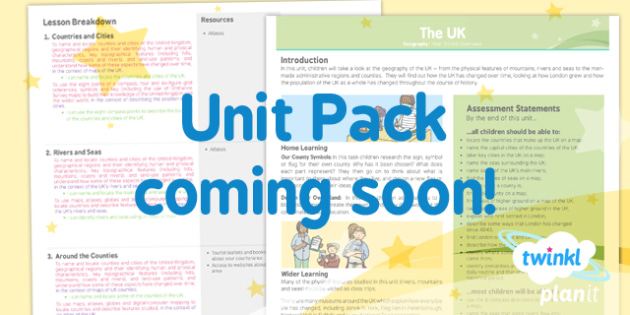 PlanIt - Geography Year 3 - The UK Planning Overview - planit, geography, year 3, the uk, planning overview