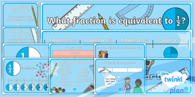 PlanIt Y2 Fractions Display Pack