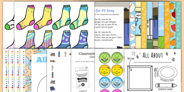 EYFS First Day Back Activity Pack