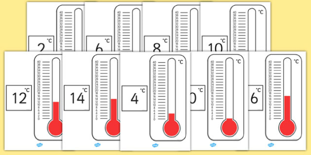 Australia - Even Numbers on Thermometers - australia, Mrs Green, life, process, life processes, display, poster, sign, characteristics, living things, live, living, movement, respiration, sensitivity, growth, reproduction, excretion, nutrition, promp