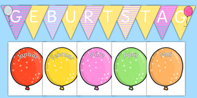 Balloon Themed Birthday Display Pack German
