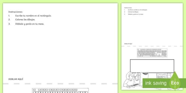 Letreros de mesa temáticos: Informática - etiqueta, letrero, nombre, mesa, cartel, informática