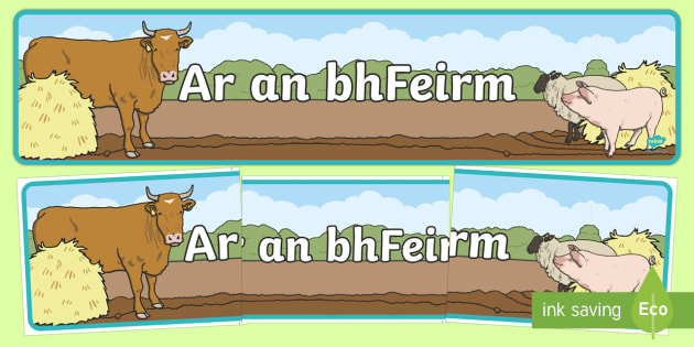 Ar an bhFeirm Display Banner Gaeilge