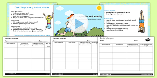 Exercise is Important KS1 Science Lesson Teaching Pack - science