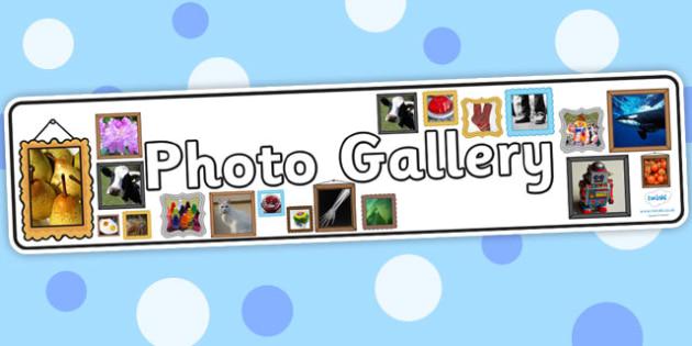 Photo Gallery Display Banner - photos, photograph, banner, header