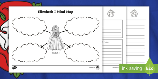 Tudors Elizabeth I Mind Maps and Worksheets - elizabeth I, the tudors, tudors worksheets, elizabath 1st worksheet, ks2 history worksheet, research sheet