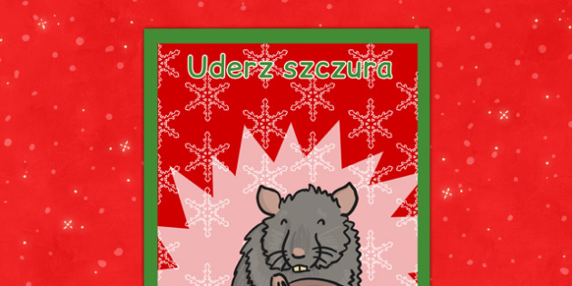 Świąteczny plakat Uderz szczura po polsku - kiermasz, święta