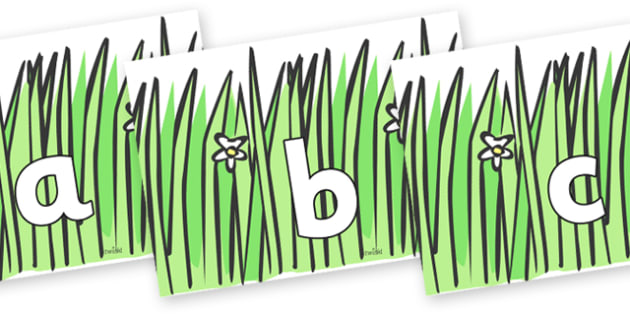 Phoneme Set on Wavy Grass - Phoneme set, phonemes, phoneme, Letters and Sounds, DfES, display, Phase 1, Phase 2, Phase 3, Phase 5, Foundation, Literacy