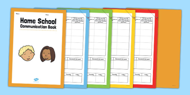 Home School Communication Book Conversation Starter - home school, communication, book, conversation, starter