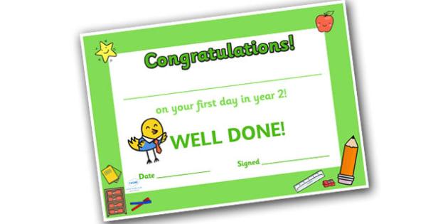 First Day Award Certificates Year 2 - award certificates, certificates, awards, first day, year 2, year two, first day awards, first day certificates