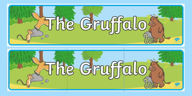The Gruffalo Display Banner - australia, gruffalo, display, banner