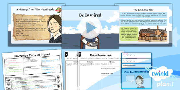PlanIt Y2 Significant Individuals: Florence Nightingale Lesson Pack Information Texts (3)