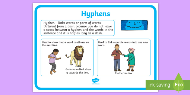 Hyphens Punctuation Poster - Hyphens, Punctuation, Literacy