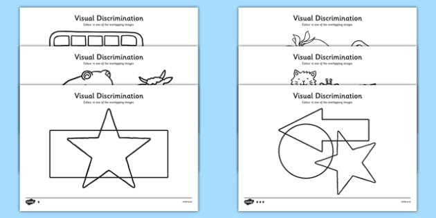 Visual Discrimination Overlapping Pictures Colouring - visual perception, visual, discrimination, overlapping, pictures, colouring