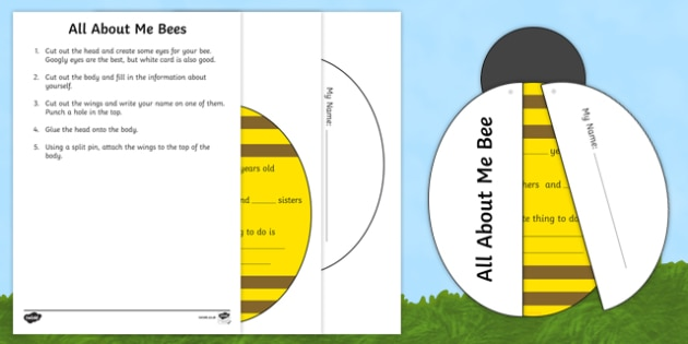 Busy Bee All About Me Craft Instructions